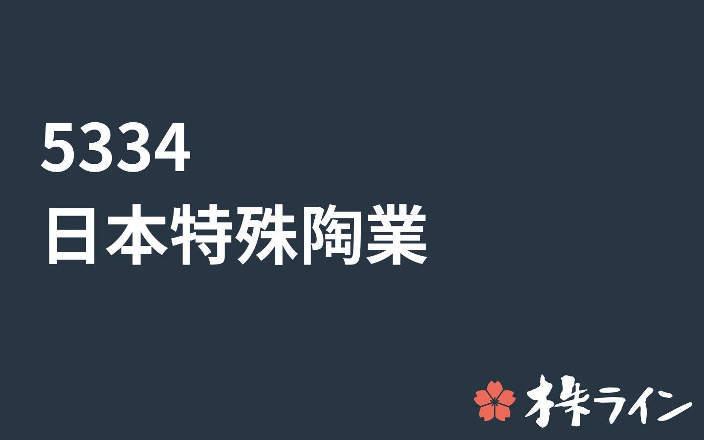 日本 特殊 陶業 株価